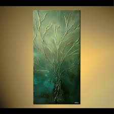 tree of life home decor painting tree of life green painting home decor vertical 5188