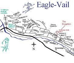 Vail Colorado Map by Travel Maps