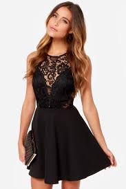 lace dress pretty black dress lace dress skater dress 44 00