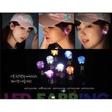 light up earring studs led earrings light up led earrings studs glow bling earrings