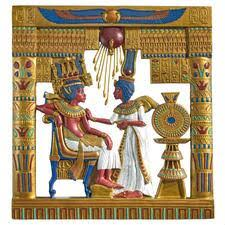 eqyptian statues wall art replica painting design toscano