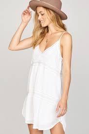 white summer dress amuse society white summer light dress spaghetti dress