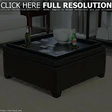 Black Storage Ottoman Large Black Leather Ottoman Coffee Table Tufted Square