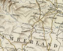 map of rothbury history of rothbury in alnwick and northumberland map and
