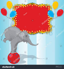 Invitation Card Of Birthday Party Circus Elephant Birthday Party Invitation Card Stock Vector