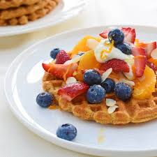 sweet or savoury spiced sweet potato waffles dreaming of almonds