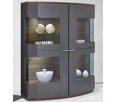 Black High Gloss Living Room Furniture Modern Display Cabinet Modern Display Cabinet High Gloss Black Oak