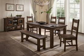 Dining Table 4 Chairs And Bench Denby Table 4 Side Chairs Bench