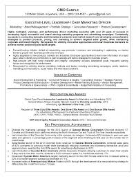 Sample Research Resume by Chief Marketing Officer Cmo Resume