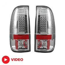 2016 f350 tail lights 2008 2016 super duty recon clear led tail lights 264176cl