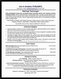 Radiologic Technologist Resume Sample by X Ray Tech Resume Examples Radiologic Technologist Sample Cover