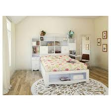 White Bookcase Headboard Full Pixel Tall Bookcase Headboard White Full Nexera Target