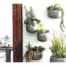 planters that hang on the wall wall mounted flower pots retno info