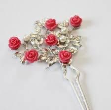 hanbok binyeo hairpin pink ornamental stick band dress korean