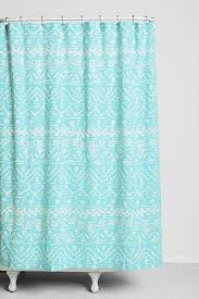 Turquoise Shower Curtains Thinking Sketched Geo Stripe Turquoise Shower Curtain
