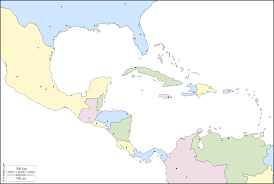 Blank Central America And Caribbean Map by Central America Free Map Free Blank Map Free Outline Map Free
