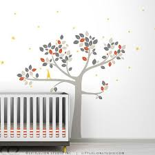 Wall Decals Baby Nursery Nursery Decor Tree Wall Decal By Leolittlelion On Etsy