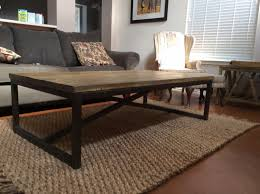 Coffee Table Frame Handmade Rustic X Brace Coffee Table With Recycled Metal Frame By