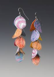 paper ear rings salsa earrings by carol silver paper earrings artful