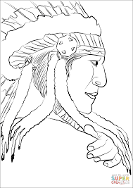 native american chief coloring page free printable coloring pages