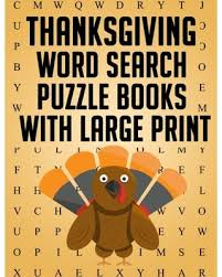 shopping sales on thanksgiving word search puzzle books