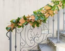 magnolia leaf garland magnolia garland etsy