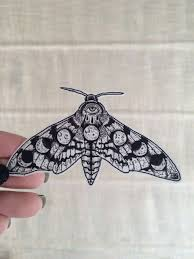 awesome combinations of a butterfly and moon phases