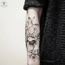 dotwork flower tattoo flowers ideas for review