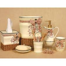 country bathroom accessories decorating clear