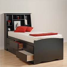 Twin Size Bed Frame With Drawers Black Twin Size Tall Mates Platform Storage Bed Six Drawers Headboard