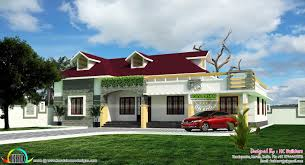 single floor house plan by hc builders kerala home design and