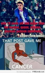 I Have Cancer Meme - spiderman meme justin bieber spiderman meme this post gave me