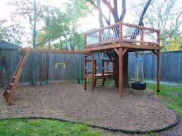 Tree House Backyard by Incorporating A Tree Into A Swingset Outside Pinterest Tree