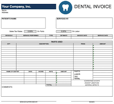free dental invoice template excel pdf word doc example micr saneme