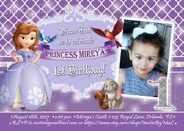 1st birthday princess invitation princess sofia the first birthday invitation by invitesbymal