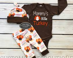 baby boys thanksgiving custom name brown infant