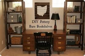 Pottery Barn Knock Off Desk Diy Bookshelves For Office Storage