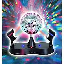 led disco ball light amazon com kidsco multi color led strobe light mirror disco ball