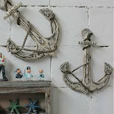 wooden anchor wall mediterranean style antiqued anchor wooden wall decoration