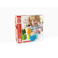 twist and hape twist and turnables wooden building block learning set hape