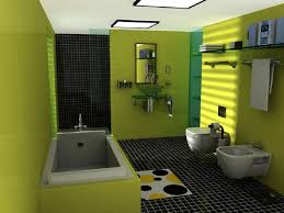 design minimalist bathroom ideas with green color 5 house design