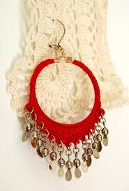 home made earrings crochet hoop earrings jewelry project the homestead