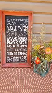 backyard rules chalkboard sign farm house chic diy yellow house