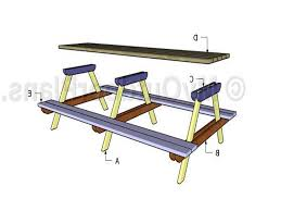 Plans For Picnic Tables by Superlative Long Picnic Table Plans 884 For Dazzle Side Tables