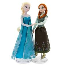 image frozen anna and elsa disney store ice skating dolls jpg