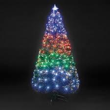 fiber optic light tree 4ft fibre optic fantasia christmas tree with 140 multi coloured lights