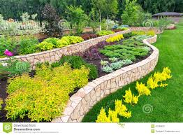 Home Landscape Natural Landscaping In Home Garden Stock Photo Image 42188820
