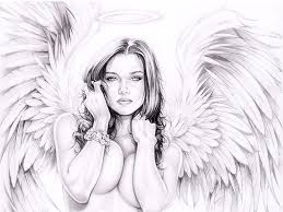 draw christian christmas an angel drawing tutorials with step by