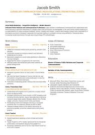 Public Relations Resumes Public Relations Cv Examples And Template