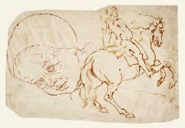 sketch of a child u0027s head and of a man on horseback u0027 joseph